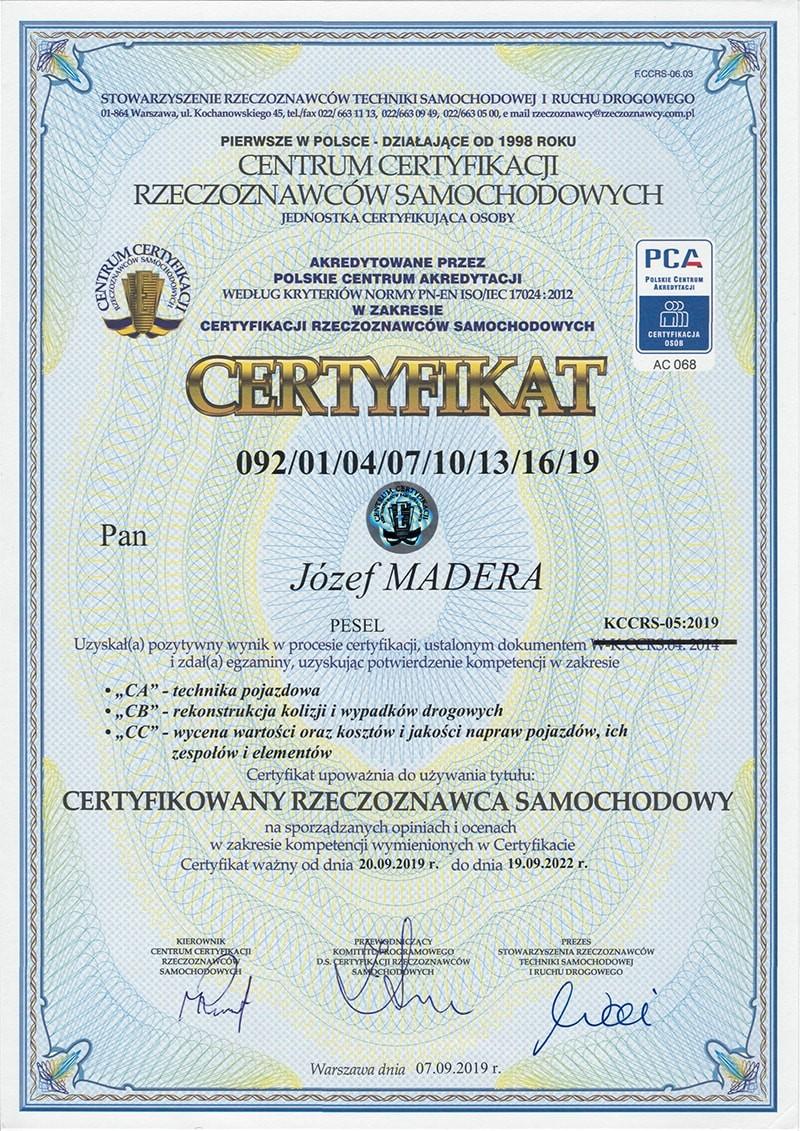 centrum-certyfikacji-rzeczoznawcow-samochodowych-jozef-madera-certyfikat-min
